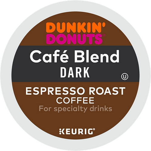 Dunkin' Donuts® Cafe Blend Dark Espresso Roast Coffee - K-Cup® - Regular - 6ct