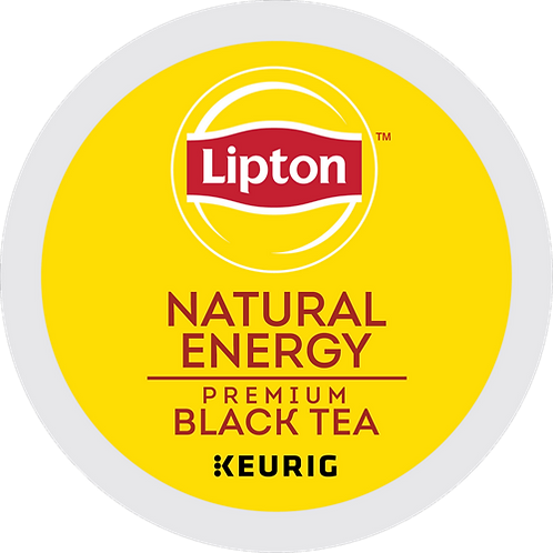 Lipton® Natural Energy Tea - K-Cup® - Regular - Black Tea - 24ct