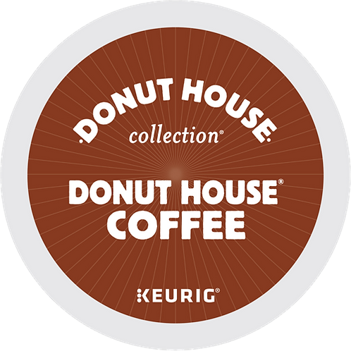 Donut House® Coffee - K-Cup® - Regular - LT Roast - 24ct