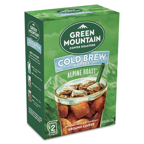 Green Mountain® Alpine Roast Cold Brew Coffee - Box - Regular - 2ct