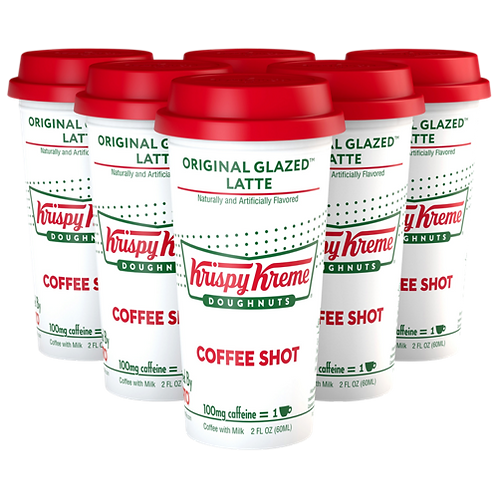 Krispy Kreme® Doughnut Original Glazed™ Latte - Coffee Shots - Regular - 6ct
