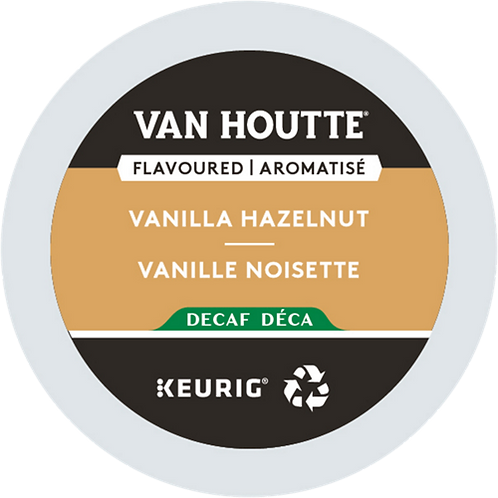 Van Houtte® Vanilla Hazelnut Decaf Coffee - K-Cup® - Decaf - LT Roast - 24ct