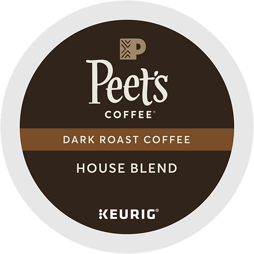 Peet's® House Blend Coffee - K-Cup® - Regular - Dark Roast - 22ct