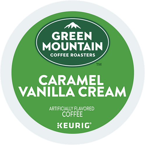 Green Mountain Caramel Vanilla Cream Coffee - K-Cup® - Regular - LT Roast - 72ct