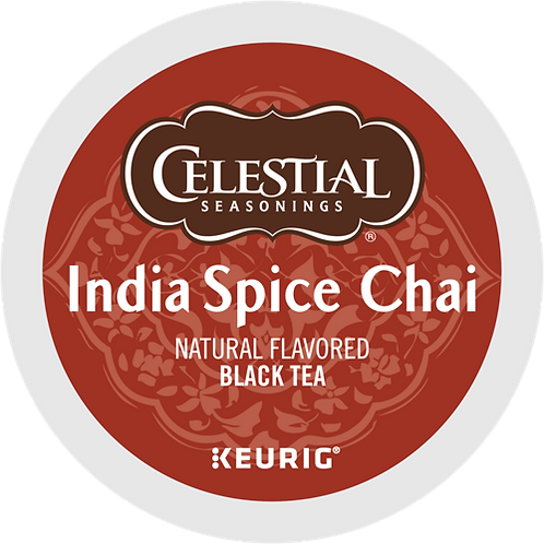 Celestial® India Spice Chai - K-Cup® - Regular - Black Tea - 24ct