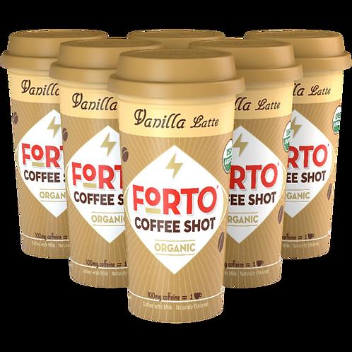 FORTO® Vanilla Latte Coffee Shot - Coffee Shots - Regular - 6ct