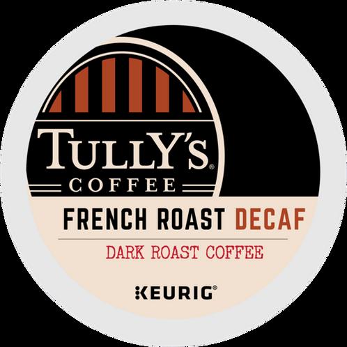 Tullys French Roast Decaf Extra Bold Coffee - K-Cup® - Decaf - Dark Roast - 24ct