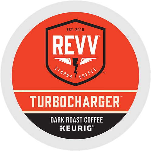 revv® TURBOCHARGER® Coffee - K-Cup® - Regular - Dark Roast - 24ct