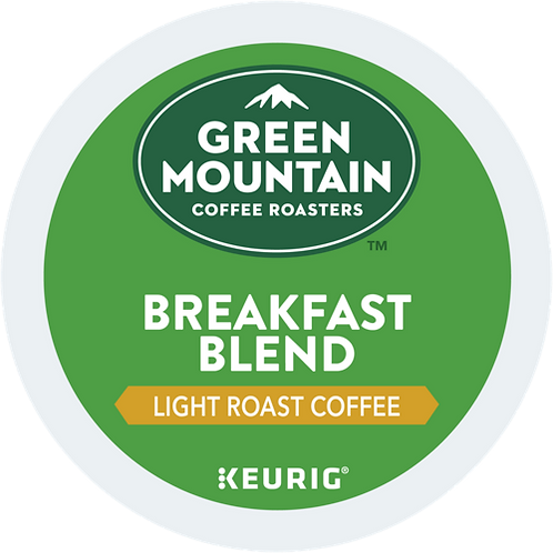 Green Mountain® Breakfast Blend Coffee - K-Cup® - Regular - LT Roast - 6ct