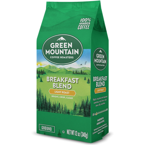 Green Mountain® Breakfast Blend Coffee - Bag - Regular - LT Roast - 12oz Ground