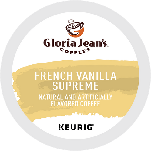 Gloria Jean's French Vanilla Supreme Coffee - KCup® - Regular - Med Roast - 24ct