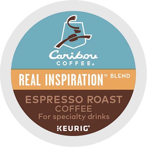 Caribou® Real Inspiration™ Blend Espresso Roast Coffee - K-Cup® - Regular - 6ct
