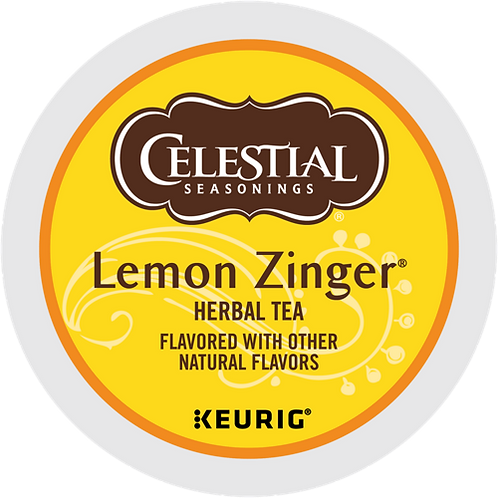Celestial® Lemon Zinger® Herbal Tea - K-Cup® - Decaf - Herbal Tea - 24ct