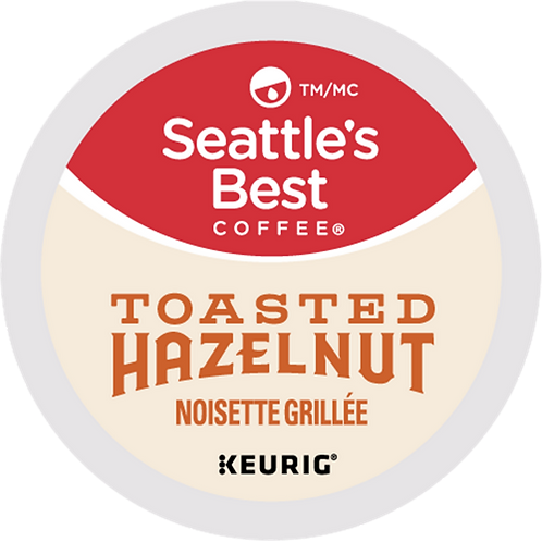 Seattle's Best® Toasted Hazelnut Coffee - K-Cup® - Regular - Med Roast - 18ct