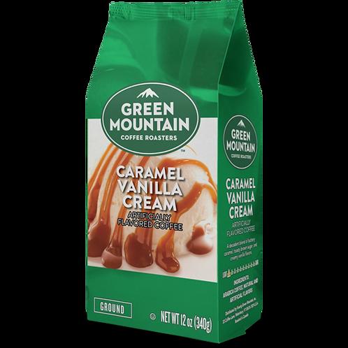 Green Mountain® Caramel Vanilla Cream - Bag - Regular - LT Roast - 12oz Ground