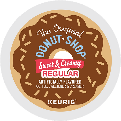 Donut Shop Sweet & Creamy Coffee - KCup® - Regular - Med Roast - 16ct