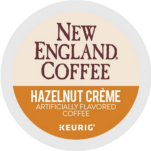 New England® Hazelnut Creme Coffee - K-Cup® - Regular - 24ct