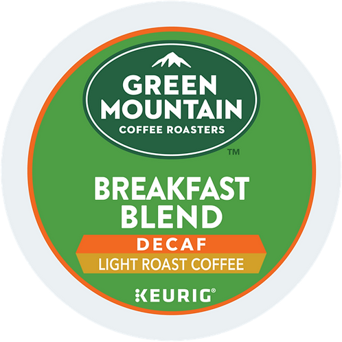 Green Mountain® Breakfast Blend Decaf Coffee - K-Cup® - Decaf - LT Roast - 72ct