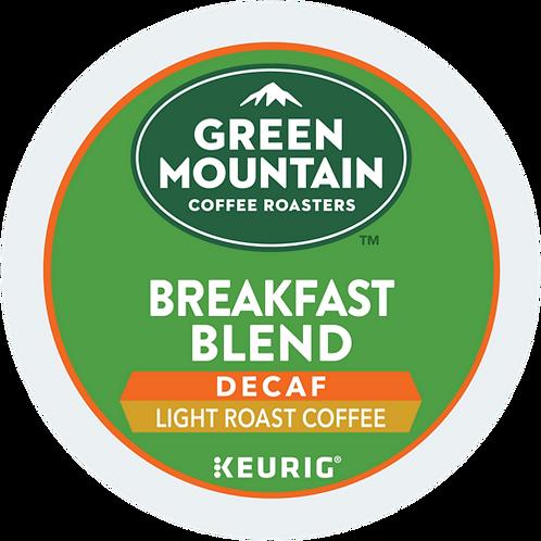 Green Mountain® Breakfast Blend Decaf Coffee - K-Cup® - Decaf - LT Roast - 6ct