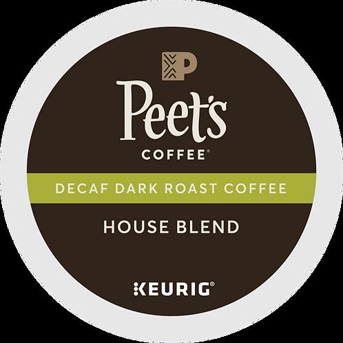 Peet's® Decaf House Blend Coffee - K-Cup® - Decaf - Dark Roast - 22ct