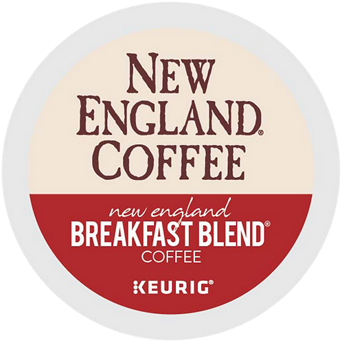 New England Breakfast Blend Coffee - KCup® - Regular - Med Roast - 24ct
