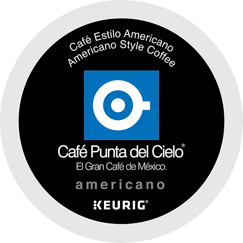 Cafe Punta® Café Americano Coffee - K-Cup® - Regular - Med Roast - 12ct