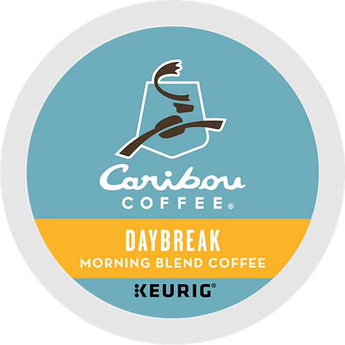Caribou® Daybreak Morning Blend Coffee - K-Cup® - Regular - LT Roast - 6ct