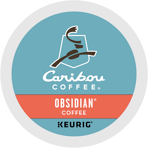 Caribou® Obsidian® Coffee - K-Cup® - Regular - Dark Roast - 18ct