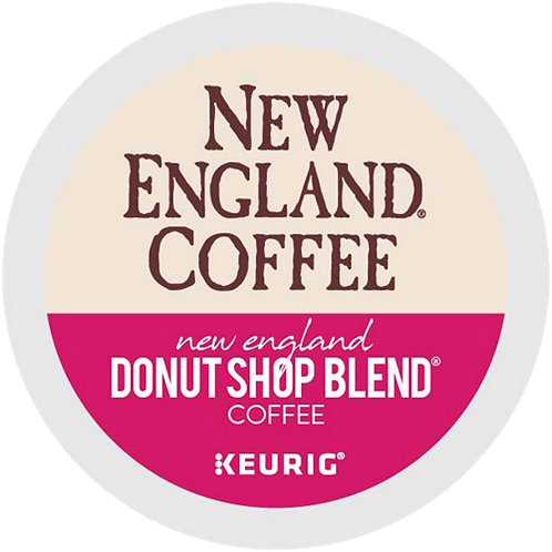 New England Donut Shop Blend Coffee - KCup® - Regular - LT Roast - 24ct