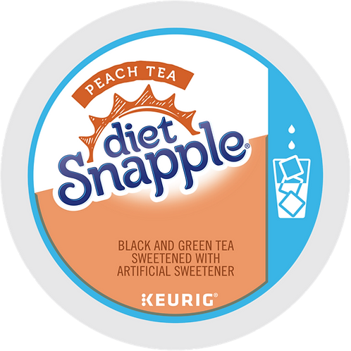 Snapple® Diet Peach Iced Tea - K-Cup® - Regular - Iced Beverages - 22ct