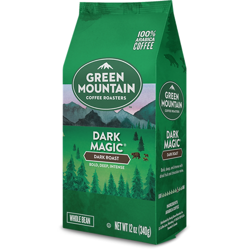 Green Mountain® Dark Magic® Coffee - Bag - Regular - Dark Roast - 12oz Beans