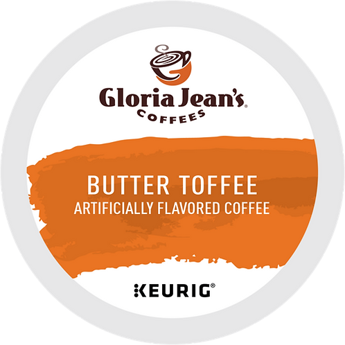 Gloria Jean's® Butter Toffee Coffee - K-Cup® - Regular - Med Roast - 6ct