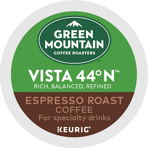 Green Mountain® Vista 44° N™ Espresso Roast Coffee - K-Cup® - Regular - 6ct