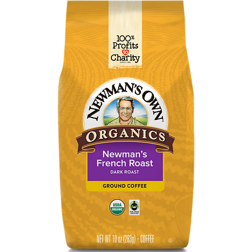 Newman's Own® French Roast - Bag - Regular - Dark Roast - 10oz Ground