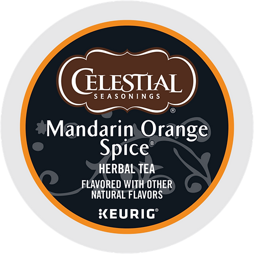 Celestial Mandarin Orange Spice® Herbal Tea - K-Cup® - Decaf - Herbal Tea - 24ct