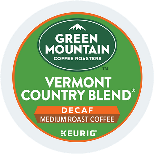 Green Mountain Vermont Country Blend Coffee - KCup® - Decaf - Med Roast - 24ct