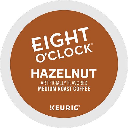 Eight O'Clock® Hazelnut Coffee - K-Cup® - Regular - Med Roast - 24ct