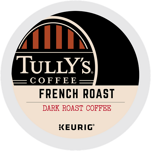 Tully's® French Roast Extra Bold Coffee - K-Cup® - Regular - Dark Roast - 24ct