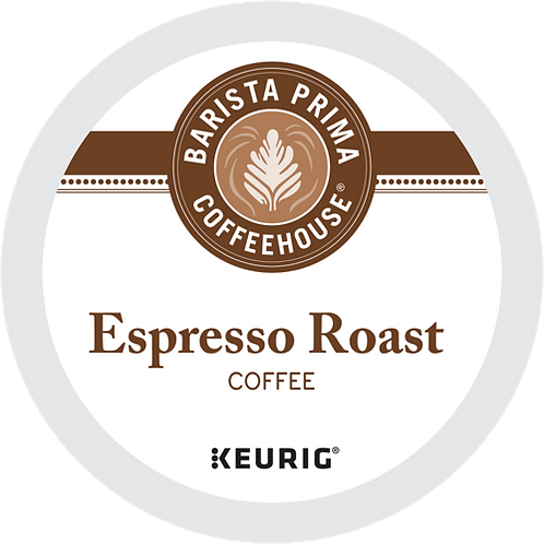 Barista Prima® Espresso Roast Coffee - K-Cup® - Regular - Dark Roast - 18ct