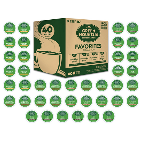 Green Mountain® Favorites Collection - K-Cup® - Regular - 40ct