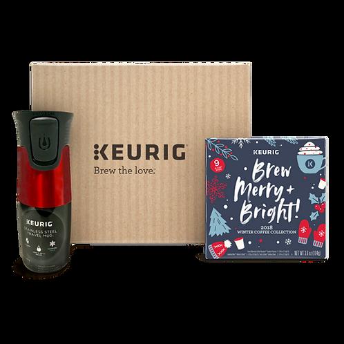 Keurig® 2018 Winter Coffee Collection with Travel Mug - K-Cup® - Regular - 9ct