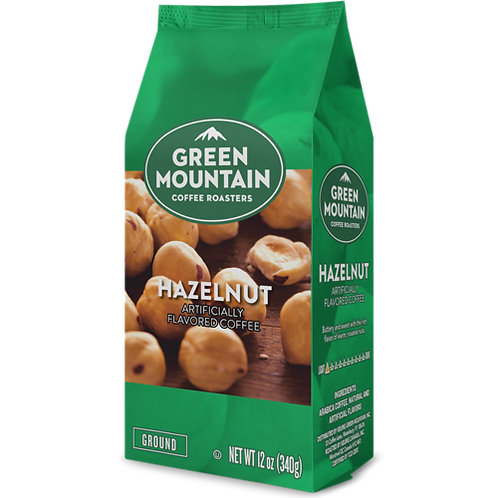 Green Mountain® Hazelnut Coffee - Bag - Regular - LT Roast - 12oz Ground