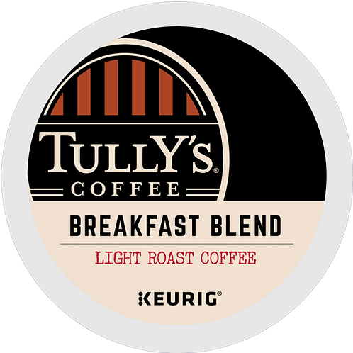 Tully's® Breakfast Blend Extra Bold Coffee - K-Cup® - Regular - Coffee - 24ct