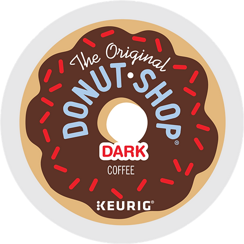 Donut Shop® Dark Coffee - K-Cup® - Regular - Dark Roast - 18ct
