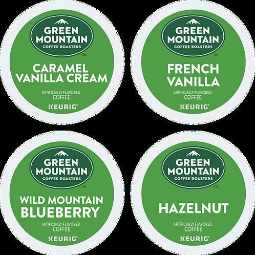 Green Mountain® Variety Flavored Coffee Box - K-Cup® - Regular - LT Roast - 22ct