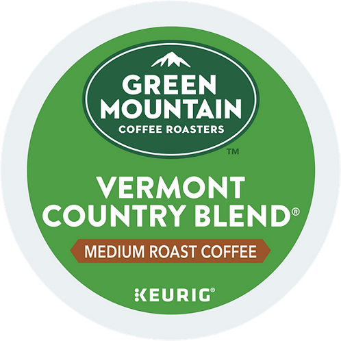 Green Mountain Vermont Country Blend Coffee - KCup® - Regular - Med Roast - 72ct