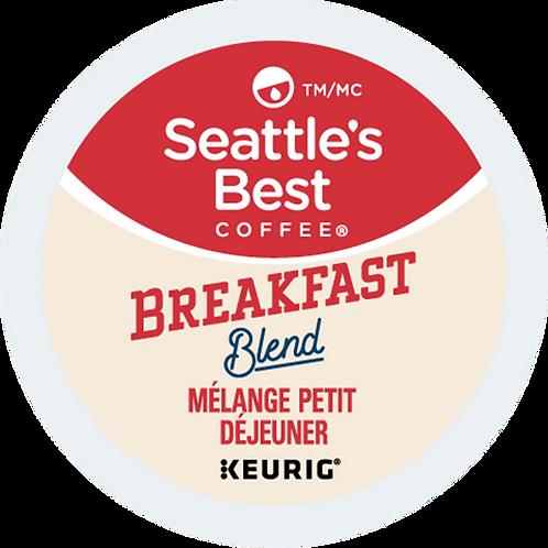 Seattle's Best® Breakfast Blend Coffee - K-Cup® - Regular - Med Roast - 18ct