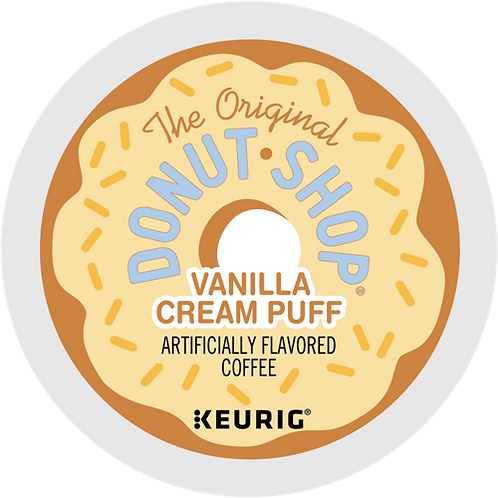 Donut Shop® Vanilla Cream Puff Coffee  - K-Cup® - Regular - Med Roast - 18ct