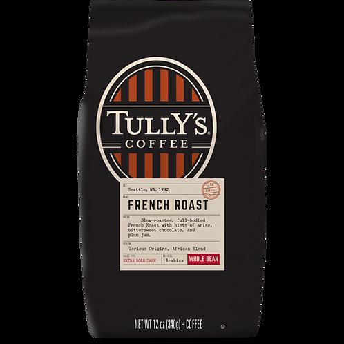 Tully's® French Roast - Bag - Regular - Dark Roast - 12oz Ground