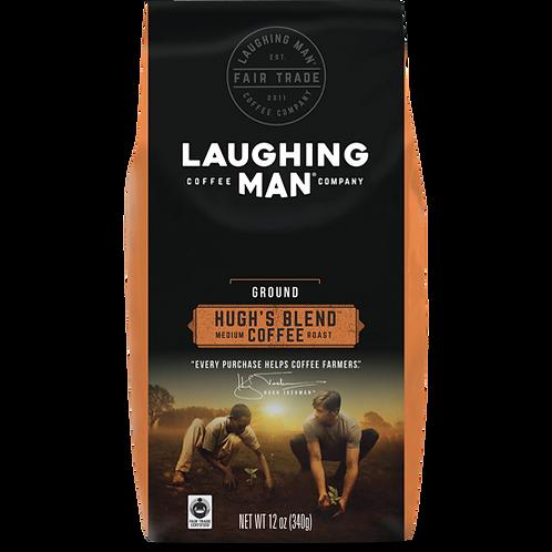 Laughing Man® Hugh's Blend™ Coffee - Bag - Regular - Med Roast - 12oz Ground